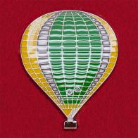 """Значок для любителей воздухоплавания """"Зеленый воздушный шар"""""""
