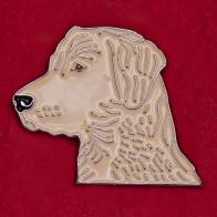 """Значок для собаководов """"Белый лабрадор"""""""