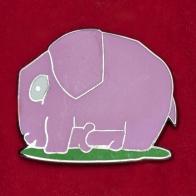 """Значок для взрослых """"Лиловый слоник"""""""