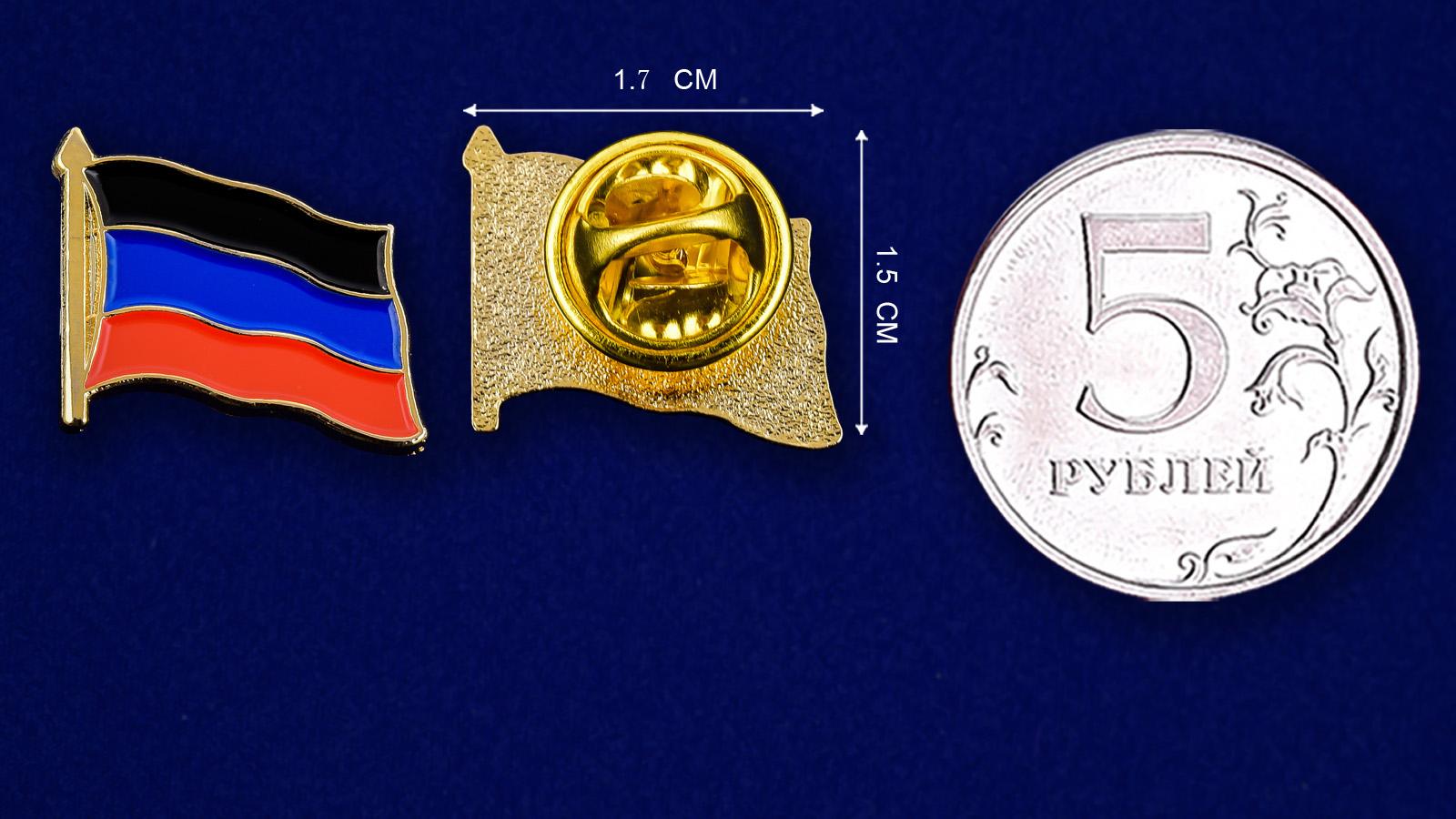 Значок ДНР - сравнительный размер