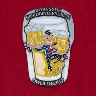 Значок фестиваля пива и музыки в Голландии Dweilen-2017