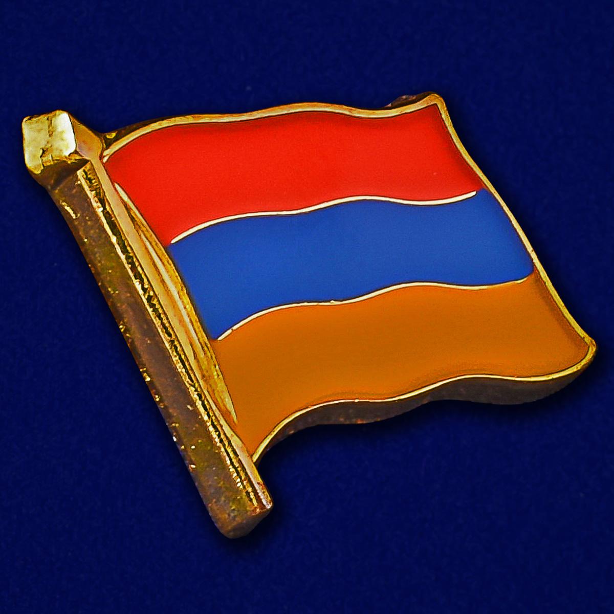 Миниатюрный флажок значок Армения