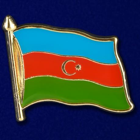 """Значок """"Флаг Азербайджана"""""""