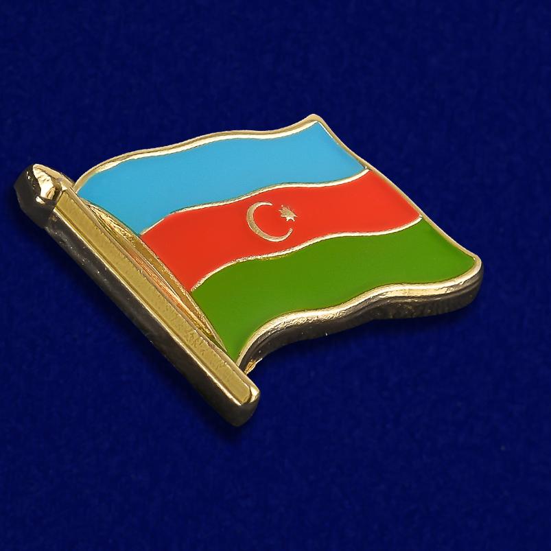 """Купить значок """"Флаг Азербайджана"""" в военторге Военпро"""