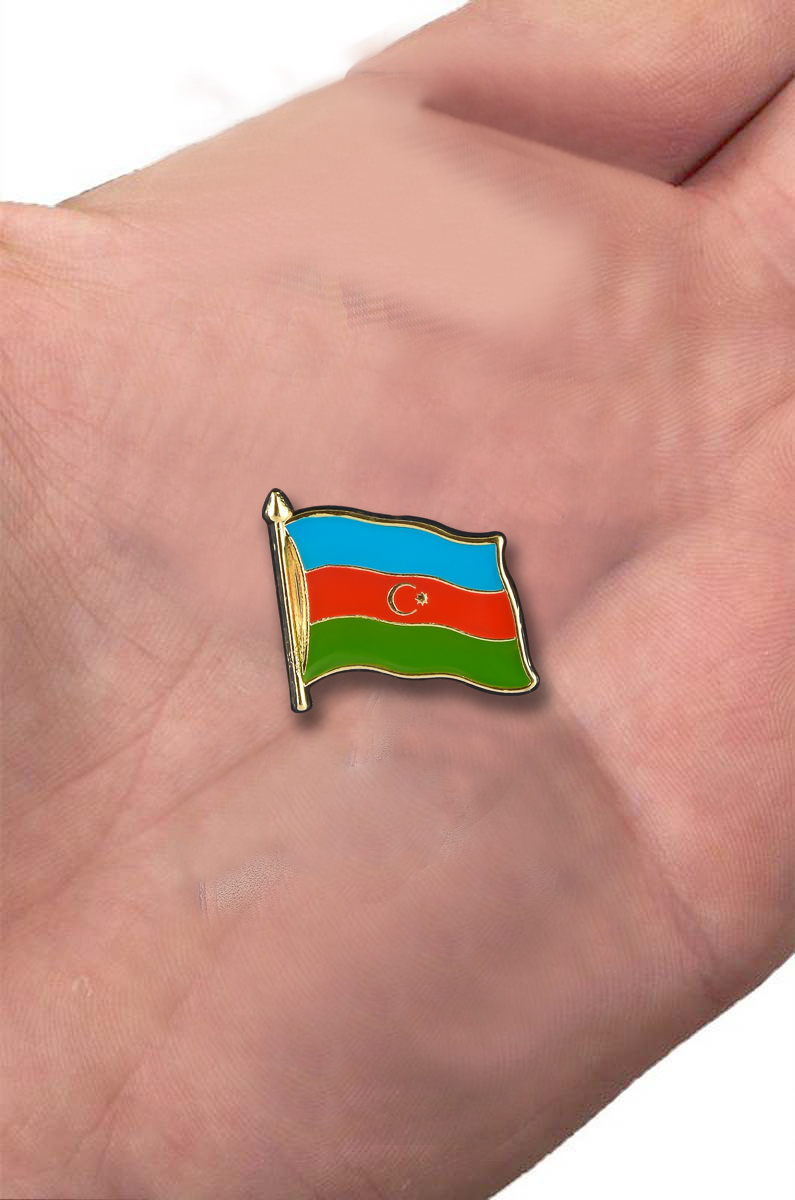 "Значок ""Флаг Азербайджана"" с доставкой"