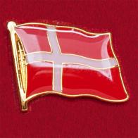 """Значок """"Флаг Дании"""""""