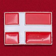 """Значок """"Флаг Дании"""" (прямой)"""