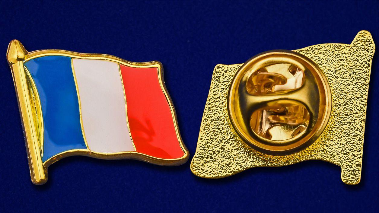 "Значок ""Флаг Франции"" - аверс и реверс"