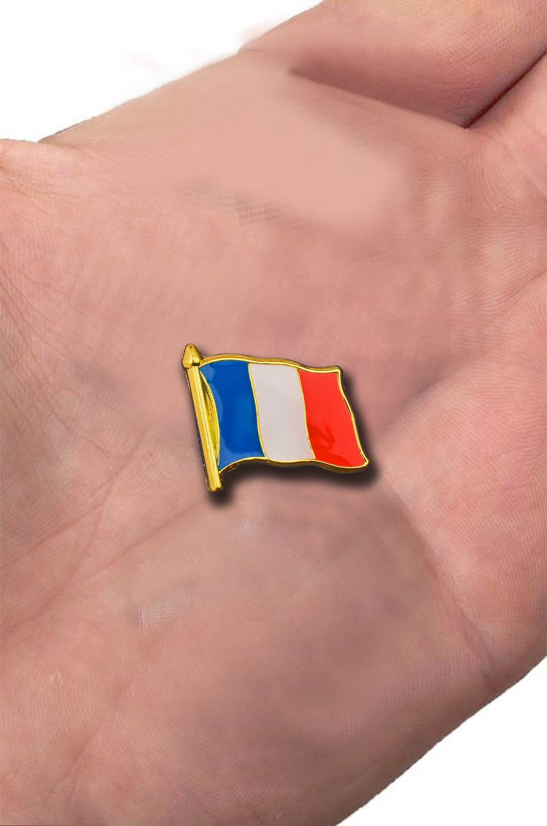 "Значок ""Флаг Франции"" с доставкой"