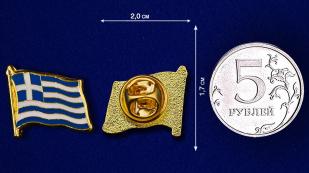 """Значок """"Флаг Греции"""" по лучшей цене"""