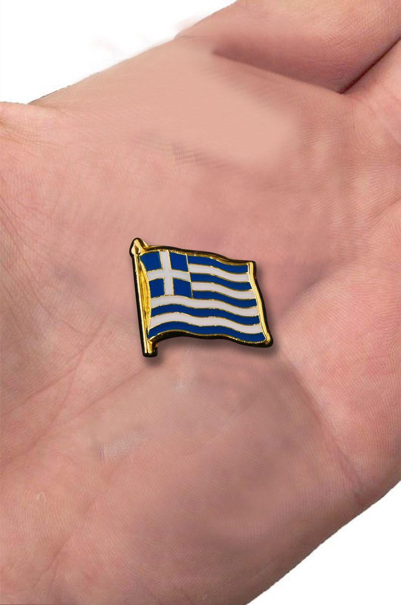"Значок ""Флаг Греции"" с доставкой"
