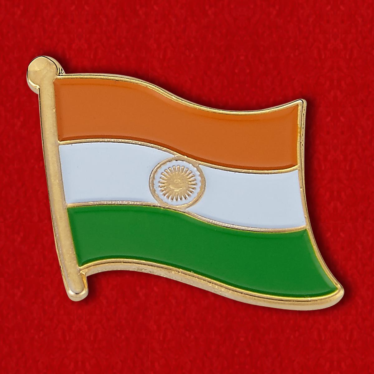 """Значок """"Флаг Индии"""""""