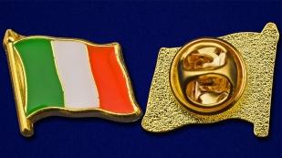 "Значок ""Флаг Италии"" - аверс и реверс"