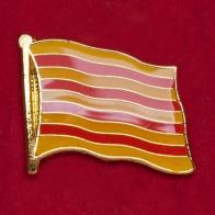 """Значок """"Флаг Каталонии"""""""