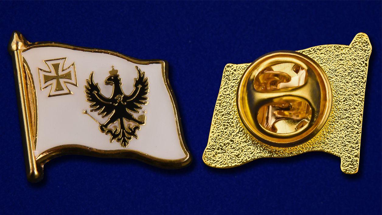 "Значок ""Флаг королевства Пруссии"" - аверс и реверс"