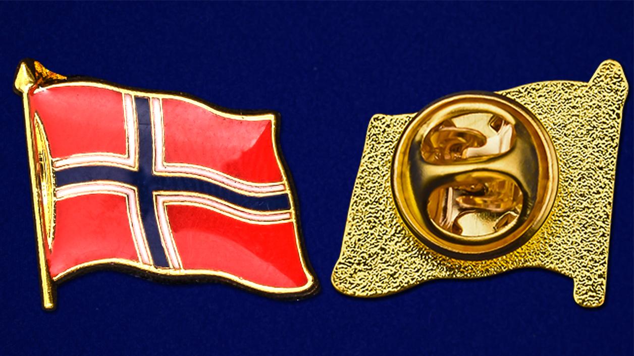 "Значок ""Флаг Норвегии"" от Военпро"