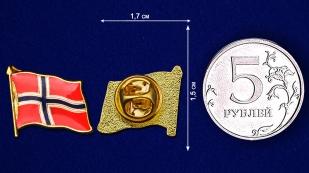 """Значок """"Флаг Норвегии"""" - размер"""