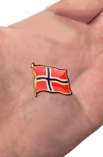 """Заказать значок """"Флаг Норвегии"""""""