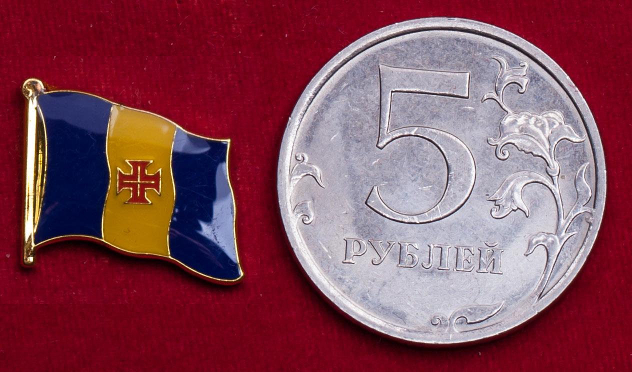 """Значок """"Флаг острова Мадейра"""" (Португалия)"""
