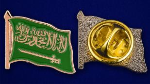 """Значок """"Флаг Саудовской Аравии"""" - аверс и реверс"""