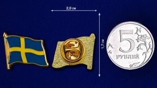 """Значок """"Флаг Швеции"""" по лучшей цене"""