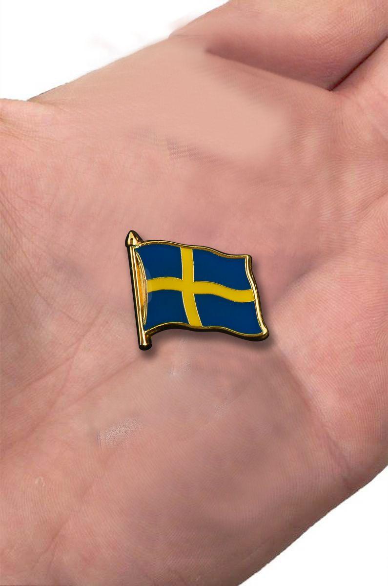 """Значок """"Флаг Швеции"""" с доставкой"""