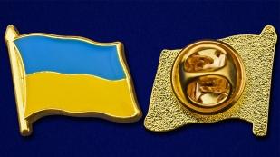 """Значок """"Флаг Украины"""" - аверс и реверс"""