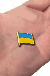 """Значок """"Флаг Украины"""" с доставкой"""