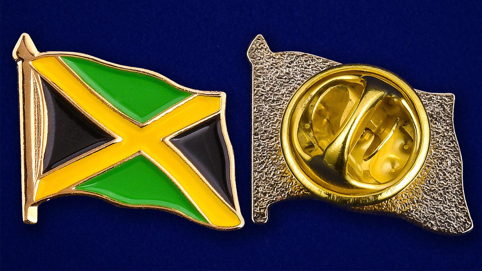 "Значок ""Флаг Ямайки"" - аверс и реверс"