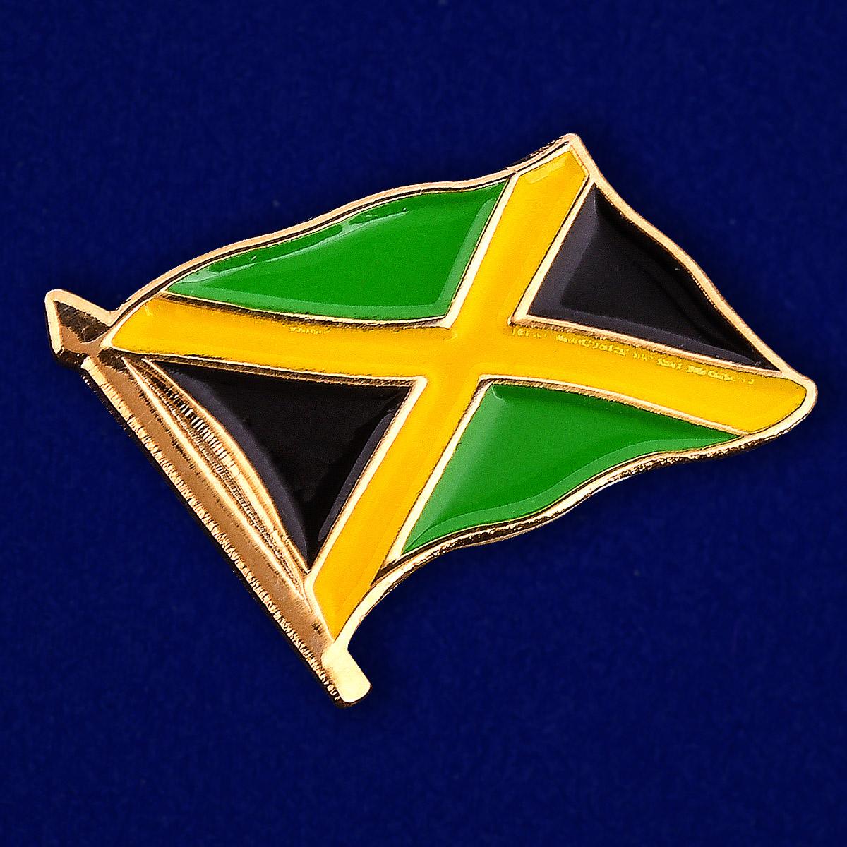 """Значок """"Флаг Ямайки"""" - общий вид"""