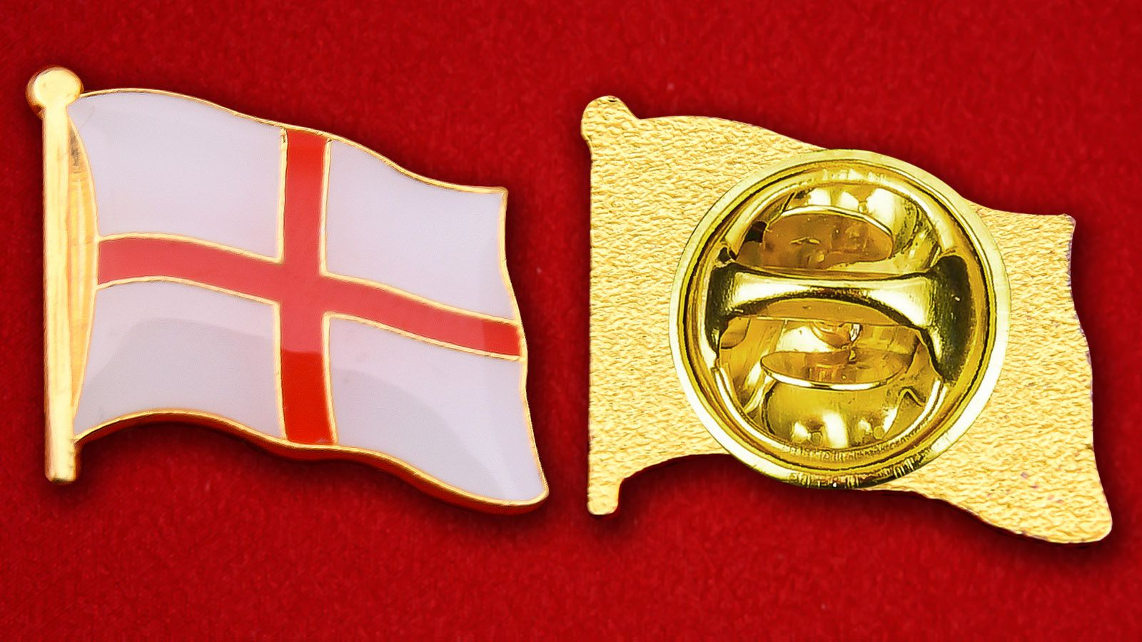 Значок Флага Англии - аверс и реверс