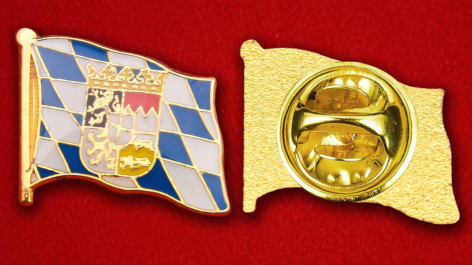 Значок Флага Баварии - аверс и реверс