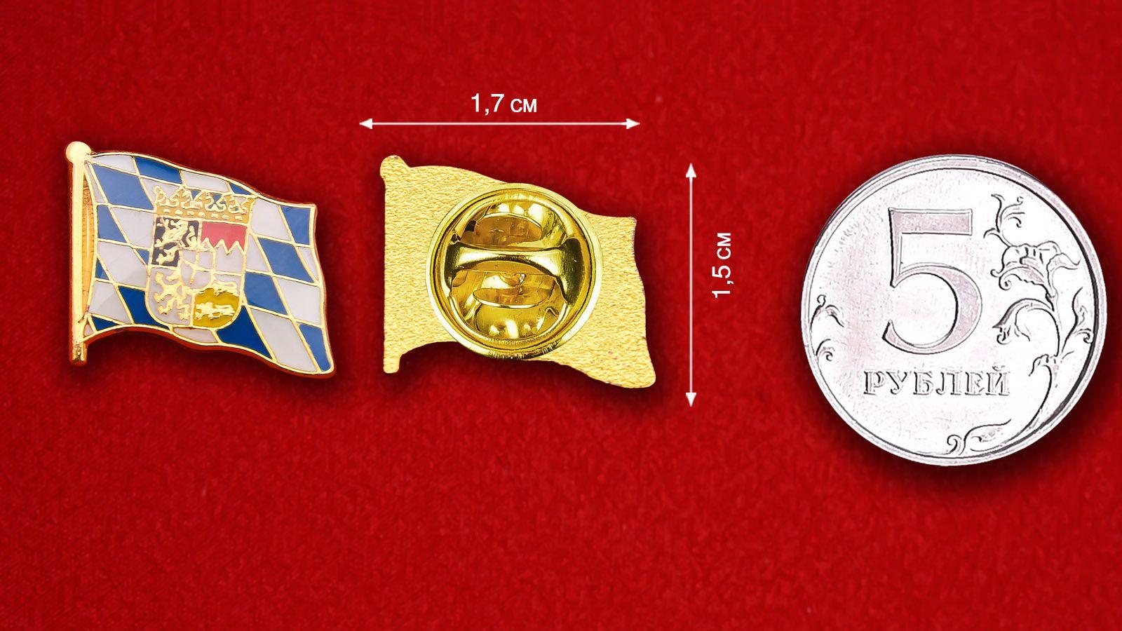 Значок Флага Баварии - сравнительный размер
