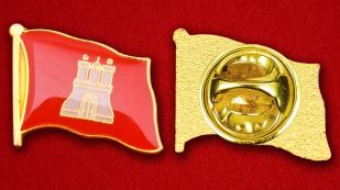 Значок Флага Гамбурга - аверс и реверс