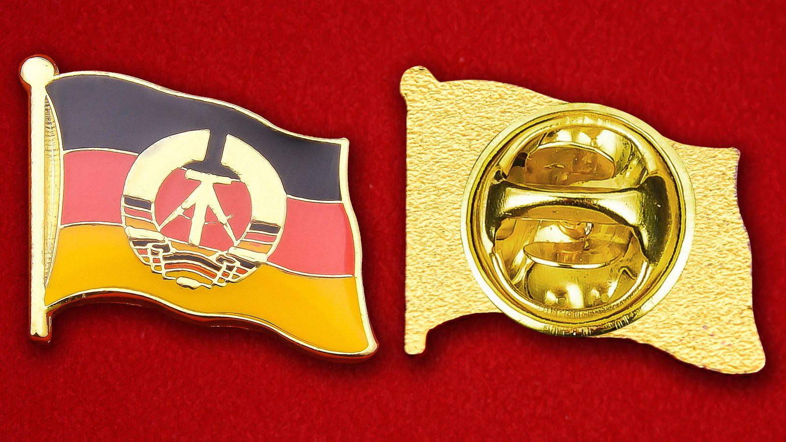 Значок Флага ГДР - аверс и реверс