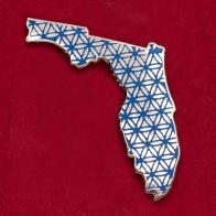 "Значок ""Флорида"" с мандалой исполнения желаний"