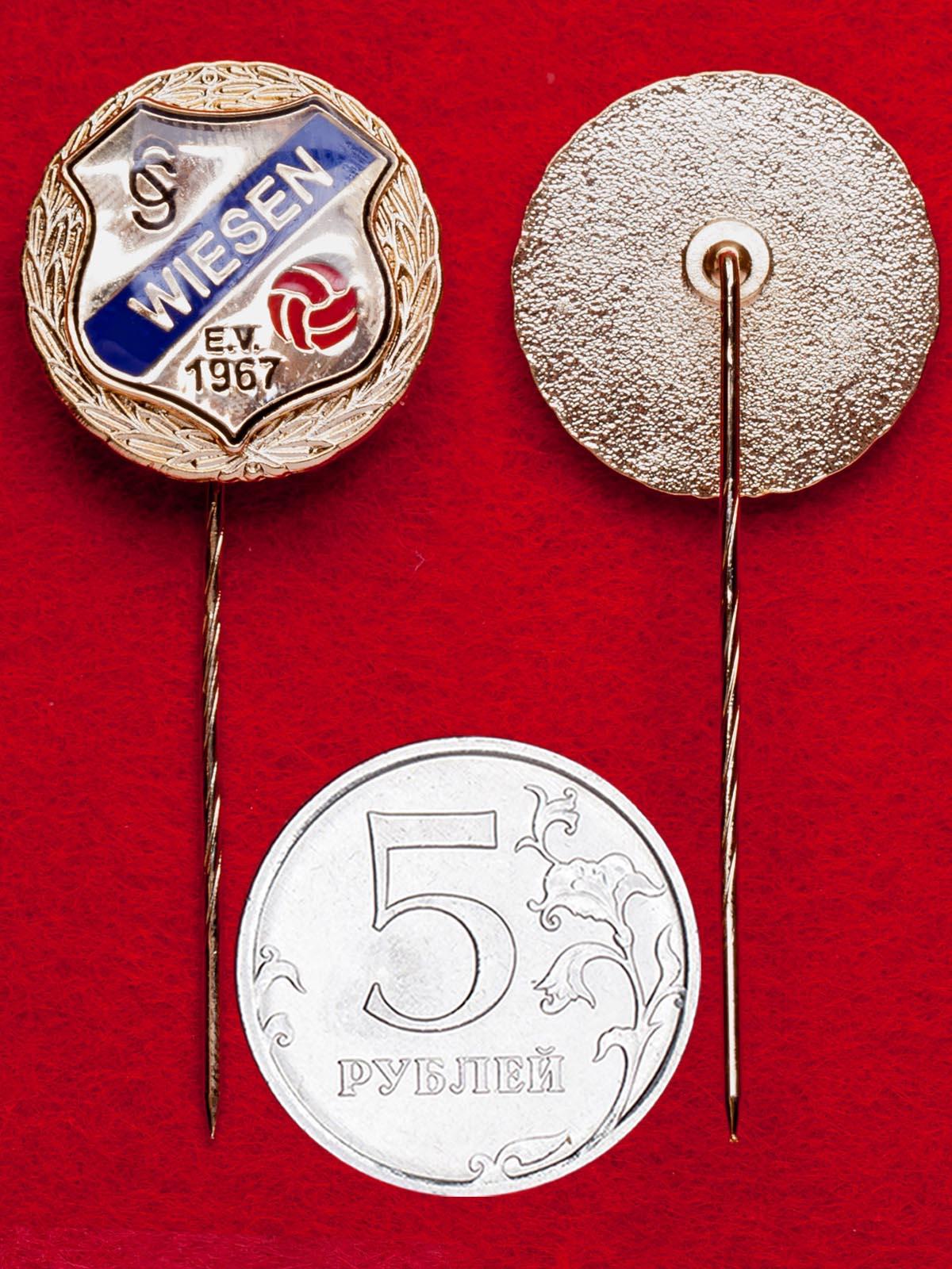 """Значок футбольного клуба """"Визен 1967"""", Германия (золото)"""