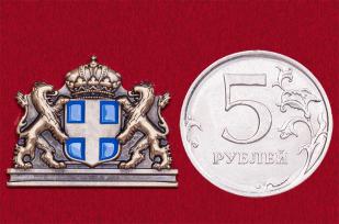 """Значок """"Герб Греции"""" со львами"""