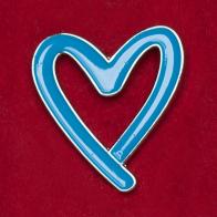 """Значок """"Голубое сердце"""" - символ противодействия торговле людьми"""