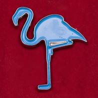 """Значок """"Голубой фламинго"""" из коллекции """"Фауна"""""""