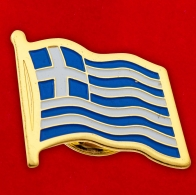 "Значок ""Греческий флаг"""