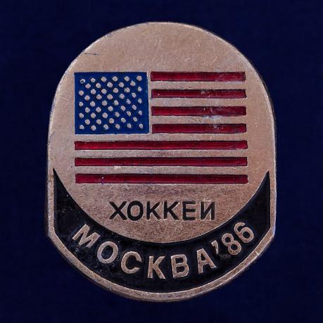 "Значок ""Хоккей. Москва 86"""