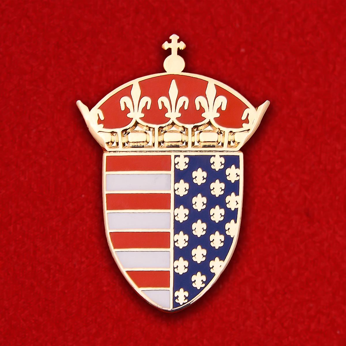 Значок исторического герба округа Бистрица-Нэсэуд в Трансильвании, Румыния