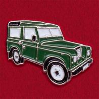 Значок из автомобильной коллекции с винтажной моделью Land Rover Series III (зеленый)