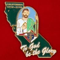 "Значок калифорнийского филиала христианского братства ""Рыцари Колумба"""