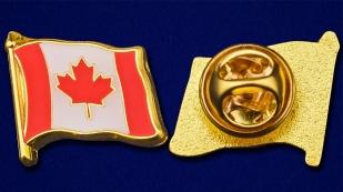 "Значок ""Канадский флаг"" - аверс и реверс"