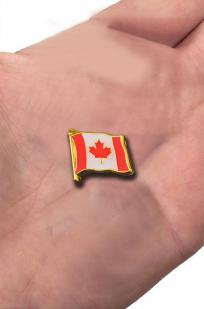 """Значок """"Канадский флаг"""" с доставкой"""
