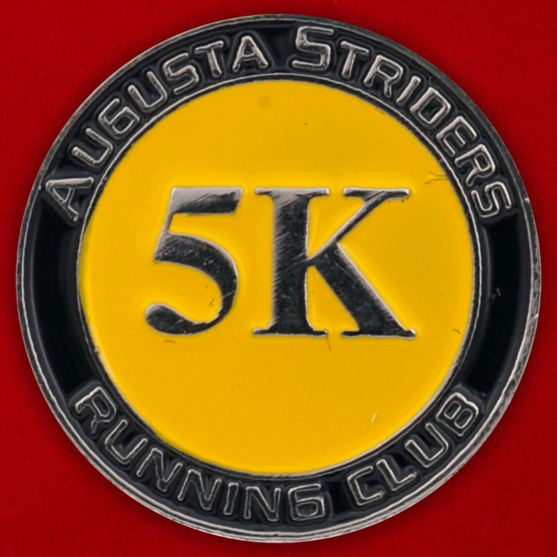 "Значок клуба пробежек ""Augusta Striders"", Джорджия, США"