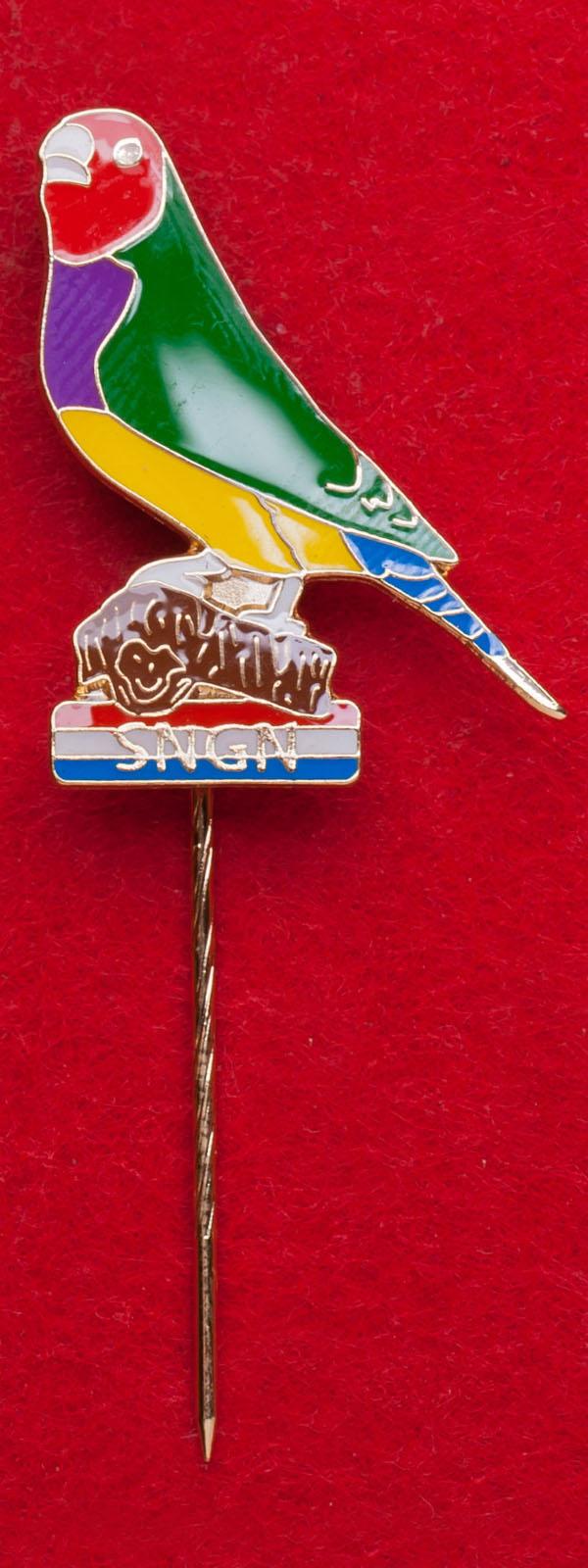 Значок клуба селекционеров зябликов в Голландии