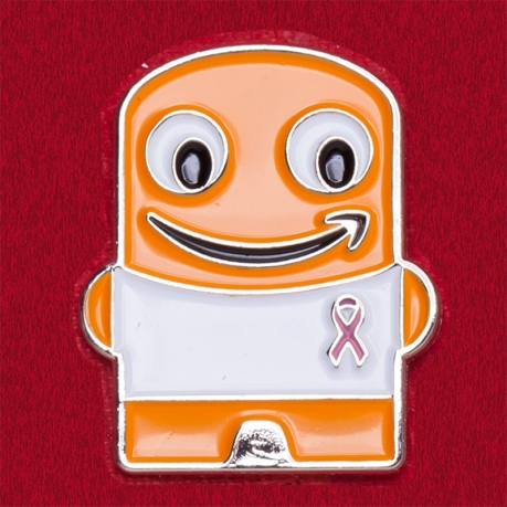 Значок компании Amazon в поддержку больных раком груди
